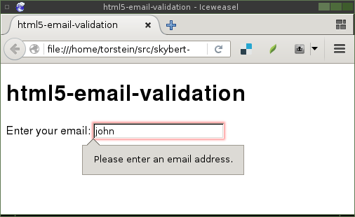 Validating email address in python do i always have to type